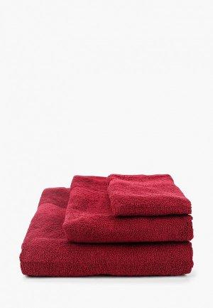 Набор полотенец HappyFox. Цвет: бордовый