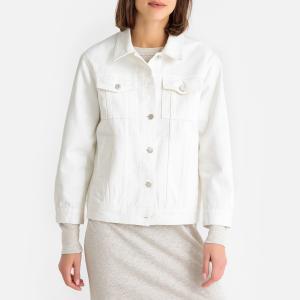 Жакет джинсовый прямого покроя TUXLA BA&SH. Цвет: экрю