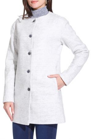 Пальто Gloss. Цвет: серый
