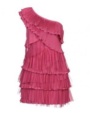 Короткое платье RENE' DERHY. Цвет: фуксия