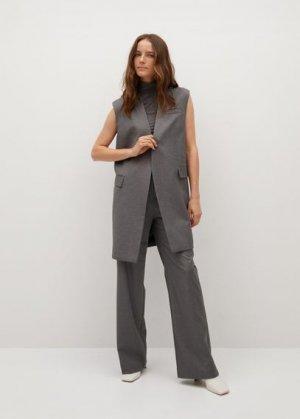 Костюмный жилет с карманами - Bori Mango. Цвет: серый