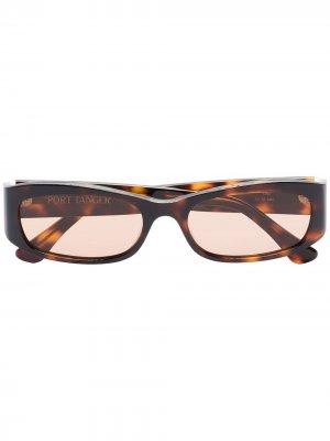 Солнцезащитные очки Leila черепаховой расцветки Port Tanger. Цвет: коричневый