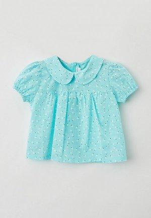 Блуза Ete Children. Цвет: бирюзовый