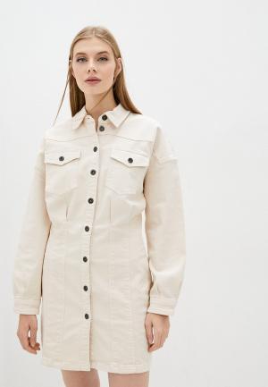 Платье джинсовое Twinset Milano ACTITUDE. Цвет: бежевый