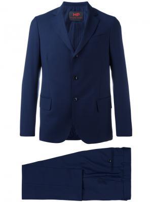 Однобортный костюм-двойка Mp Massimo Piombo. Цвет: синий