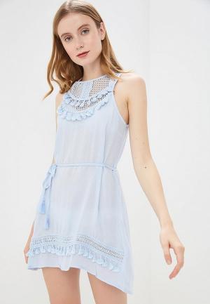 Платье пляжное River Island. Цвет: голубой