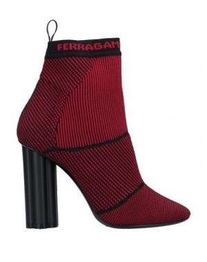 Полусапоги и высокие ботинки SALVATORE FERRAGAMO. Цвет: красный