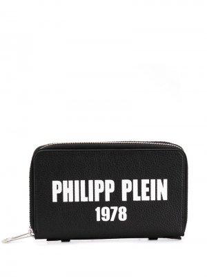 Удлиненный кошелек Philipp Plein. Цвет: черный