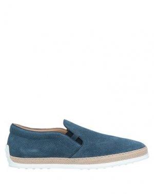 Кеды и кроссовки TOD'S. Цвет: грифельно-синий