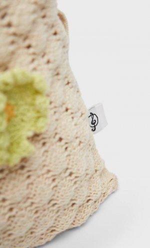 Чехол Для Подушки Из Кружева Кроше С Эффектом Пэчворк Цвет Небеленого Полотна 64 Stradivarius. Цвет: цвет небеленого полотна