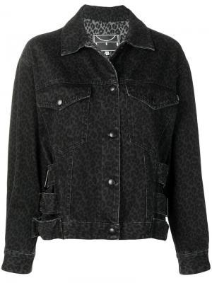 Джинсовая куртка с леопардовым принтом McQ Alexander McQueen
