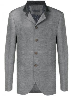 Классический пиджак на пуговицах John Varvatos. Цвет: серый