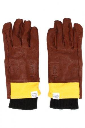 Перчатки NORSE PROJECTS. Цвет: коричневый