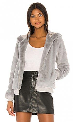 Куртка с капюшоном marissa superdown. Цвет: серый
