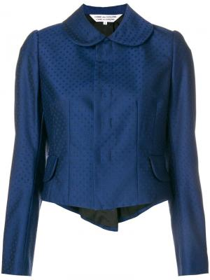 Пиджак в стиле фрака горох Comme Des Garçons. Цвет: синий