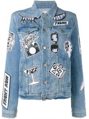 Джинсовая куртка Fashion Tour с заплатками Frame Denim. Цвет: синий