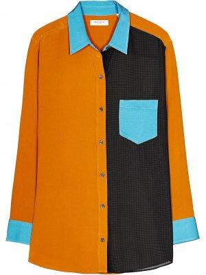 Рубашка Elsee в стиле колор-блок Equipment. Цвет: коричневый