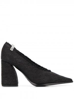 Фактурные туфли-лодочки на каблуке Premiata. Цвет: черный