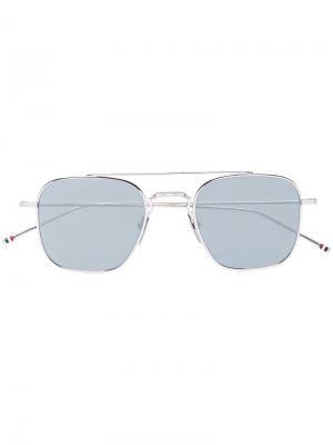 Зеркальные солнцезащитные очки Thom Browne Eyewear. Цвет: золотистый