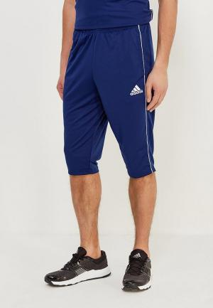 Шорты спортивные adidas CORE18 3/4 PNT. Цвет: синий