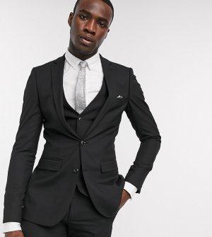 Однотонный пиджак скинни Tall-Черный цвет Harry Brown