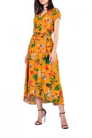 Платье Forus. Цвет: горчичный