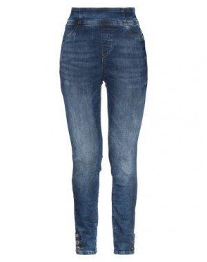 Джинсовые брюки DENNY ROSE. Цвет: синий