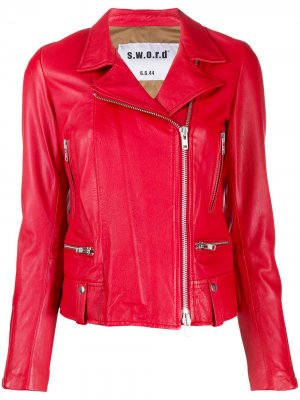 Байкерская куртка S.W.O.R.D 6.6.44. Цвет: красный