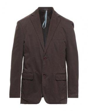 Пиджак HYDRO by ANGELO NARDELLI. Цвет: темно-коричневый