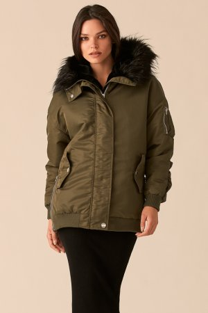 Куртка Love Republic. Цвет: 13, хаки, оливковый