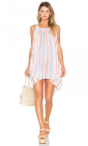 Платье-комбинация aden Lemlem. Цвет: белый