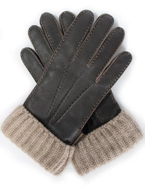 Кожаные перчатки Paul&Shark. Цвет: коричневый