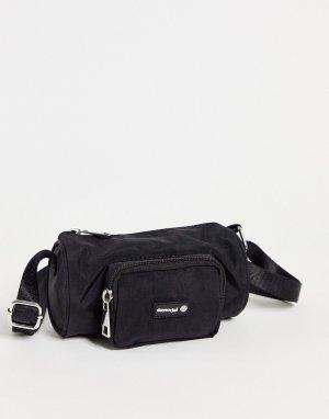 Черная нейлоновая сумка-кошелек через плечо в виде бочонка ASOS Daysocial-Черный цвет DESIGN