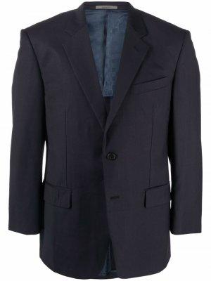 Однобортный пиджак 2000-х годов Givenchy Pre-Owned. Цвет: синий