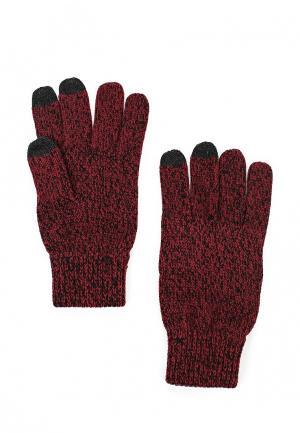 Перчатки Topman. Цвет: бордовый