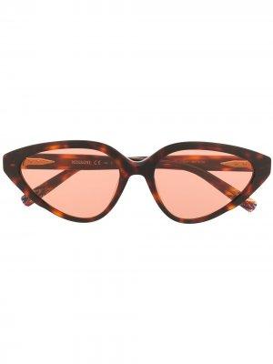 Солнцезащитные очки в оправе кошачий глаз Missoni. Цвет: коричневый
