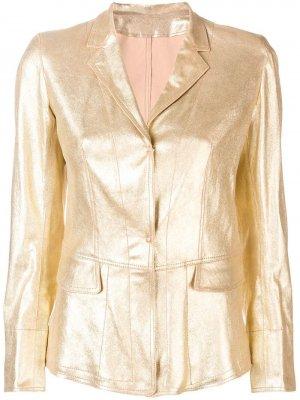 Кожаная куртка с отделкой металлик Sylvie Schimmel
