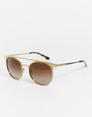 Круглые солнцезащитные очки MK1030-Коричневый Michael Kors