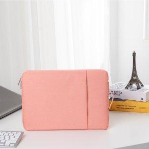 12-дюймовая сумка для ноутбука SHEIN. Цвет: розовые