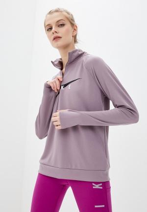 Лонгслив спортивный Nike W NK SWOOSH RUN HZ MIDLAYER. Цвет: бежевый