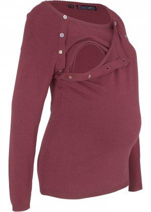 Пуловер для будущих и кормящих мам bonprix. Цвет: красный