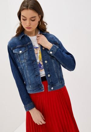 Куртка джинсовая Lauren Ralph. Цвет: синий