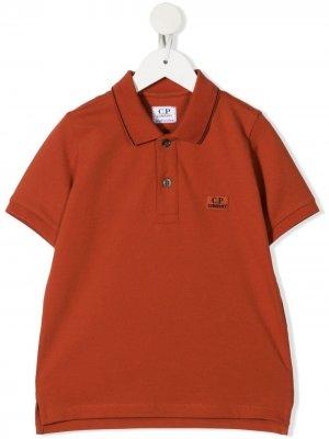 Рубашка поло с нашивкой-логотипом C.P. Company Kids. Цвет: оранжевый