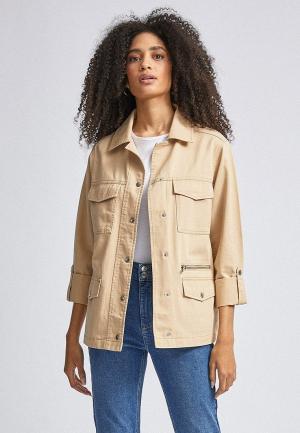 Куртка джинсовая Dorothy Perkins. Цвет: бежевый