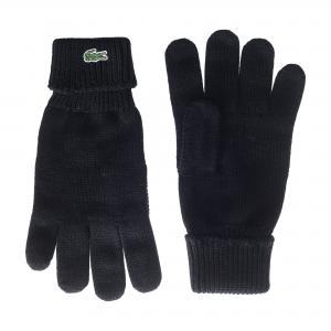 Шапки, шарфы и перчатки Lacoste. Цвет: черный