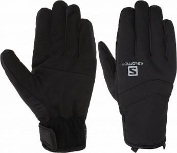 Перчатки мужские Rs Warm, размер 8,5 Salomon. Цвет: черный