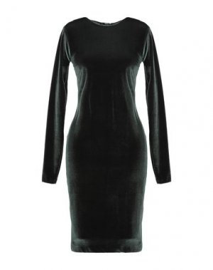 Платье до колена ALTEЯƎGO. Цвет: темно-зеленый
