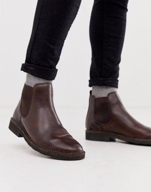 Коричневые кожаные ботинки челси Тalan-Коричневый Polo Ralph Lauren