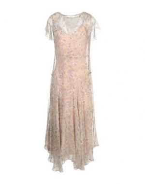 Платье длиной 3/4 AQUILANO-RIMONDI. Цвет: бежевый