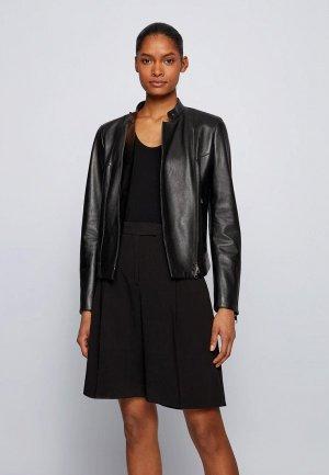 Куртка кожаная Boss Samaki. Цвет: черный